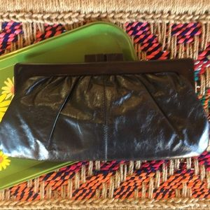 70s Leather Clutch~Italy